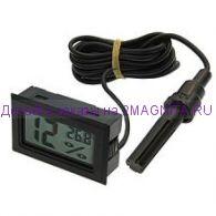 Термометр с выносным датчиком влажности HT-2 черный